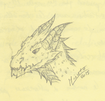Sketch - Dragon by Misuto-Gesshoku