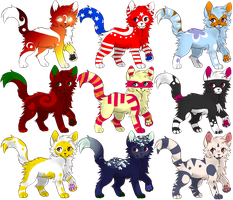 Random Themed Cat Adopts 14-19 pts OPEN by ranidoptables
