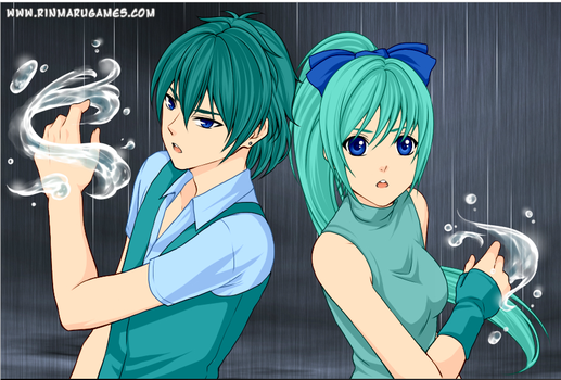 Dragon Aqua and DJ Aqua by DJMonster101