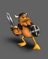pato vikingo by AuriusGrifth
