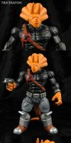 Customized TMNT Triceraton action figure by Jin-Saotome