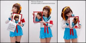 Haruhi photo frame by Hitomi-Cosplay