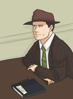 L.A. Noire - Bored at work by litesnake