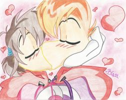 Raygirl and rayman-kiss by raygirl14