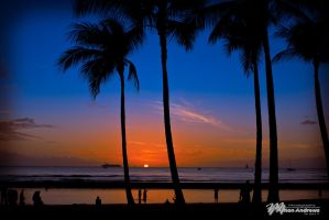 Sunset Waikiki by Milton-Andrews