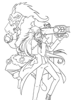 Lineart::Killer Duo by PrehistoricPlague