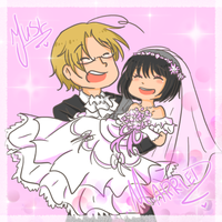 Just Married : Matthew x Sakura by SparxPunx