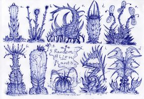 Random Alien Plants by MickMcDee