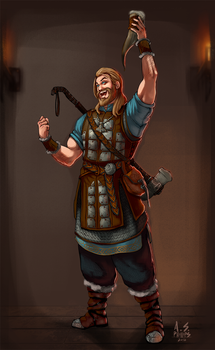 Concept: Human Cleric / Viking by asphillipsart