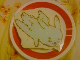 Chocolate art- Flying Mint Bunny by Sweet-Mint