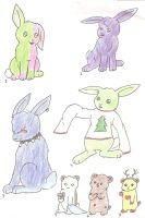 Free Adoptables Rabbits/Hamsters by fangs211