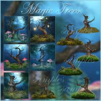 Magic Trees backgrounds by moonchild-ljilja