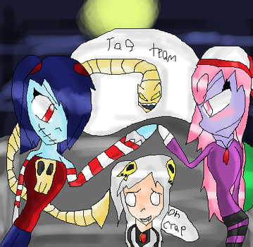 vivian and Squigly vs bloody marie by pikagirl111