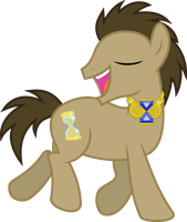 Dr. Whooves Likes His Necklace by jaybugjimmies