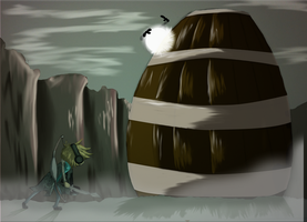 Shadow Of the Colossal Barrel by SquigyButt