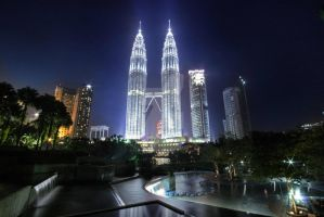The Petronas Towers HDR by keegsmeister