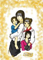 happy family colored by Nonazka