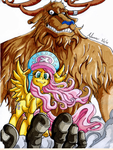 Nakama is Magic: Monster Chopper and Fluttershy by Irie-mangastudios