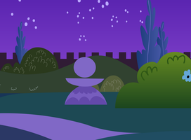 Redraw of a ponyville night background. by Extra-Dan