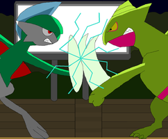 Duel for the Gardevoir by CoolNala