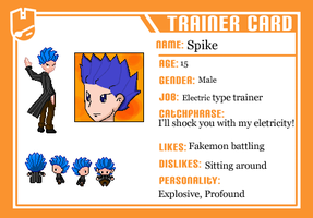 Electric type trainer Spike by Sparrow-Kaizu
