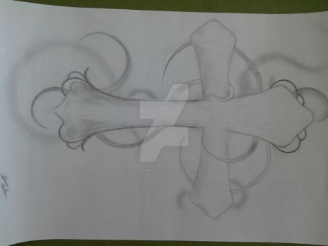 unfinished gothic cross sketch 2011 by xxveganpunkxx