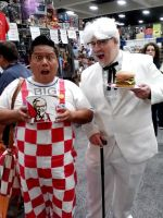 Colonel Sanders and Bob's Big Boy caught swapping by Pabloramosart