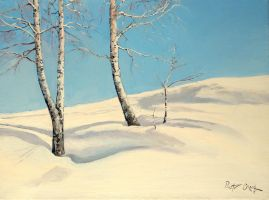 birches in the snow by Dreamnr9