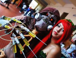 Poison Ivy and Scarecrow Cosplays by JNCosplayers