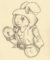 Boxing Rabbit by SockZombie