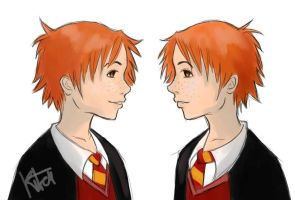 Fred and George by kitei