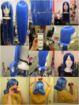 Juvia Wig Tutorial (Fairy Tail) by Holly-Batali
