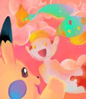 :Pikableu and Chimeco: by pikashoes
