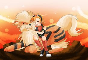 Kora with Lion by WataruAvril