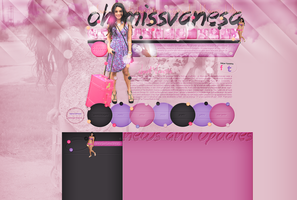 Ordered layout with Vanessa Hudgens by redesignbea