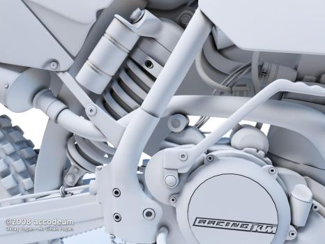 KTM 450EXC Clay Closeup 01 WIP by oktaypocan
