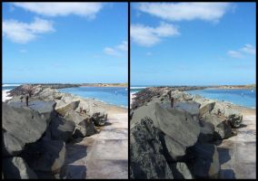Breakwater Stereo Photo by timbo