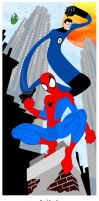 Spiderman and Mr Fantastic by TriVector