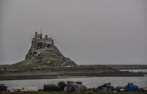 Castle at Lindisfarne. Northumbria. by jennystokes