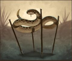 Snake on Stilts by arvalis