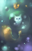 Bubble Cat by Motsuyaku