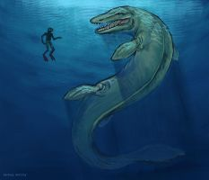 Mosasaur by Selladorra
