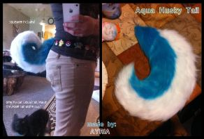 Aqua Husky Tail~ by QueenAyria