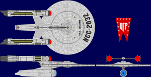 USS Challenger Multi-View by captshade