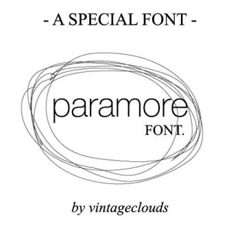 Brand New Eyes -Paramore Font. by vintageclouds