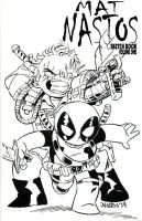 Chibi Cable - Deadpool Sketchcover by ElfSong-Mat