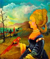 Lady with a Parrot by ninelkl