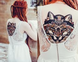 fox tattoo. my work by NikaSamarina