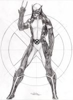 LAURA KINNEY WOLVERINE pencils by Dingodile24