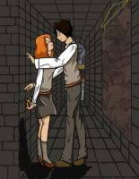 Lily Evans and James Potter by Taliatrix
